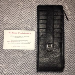 NWOT Lodis Leather Card Holder